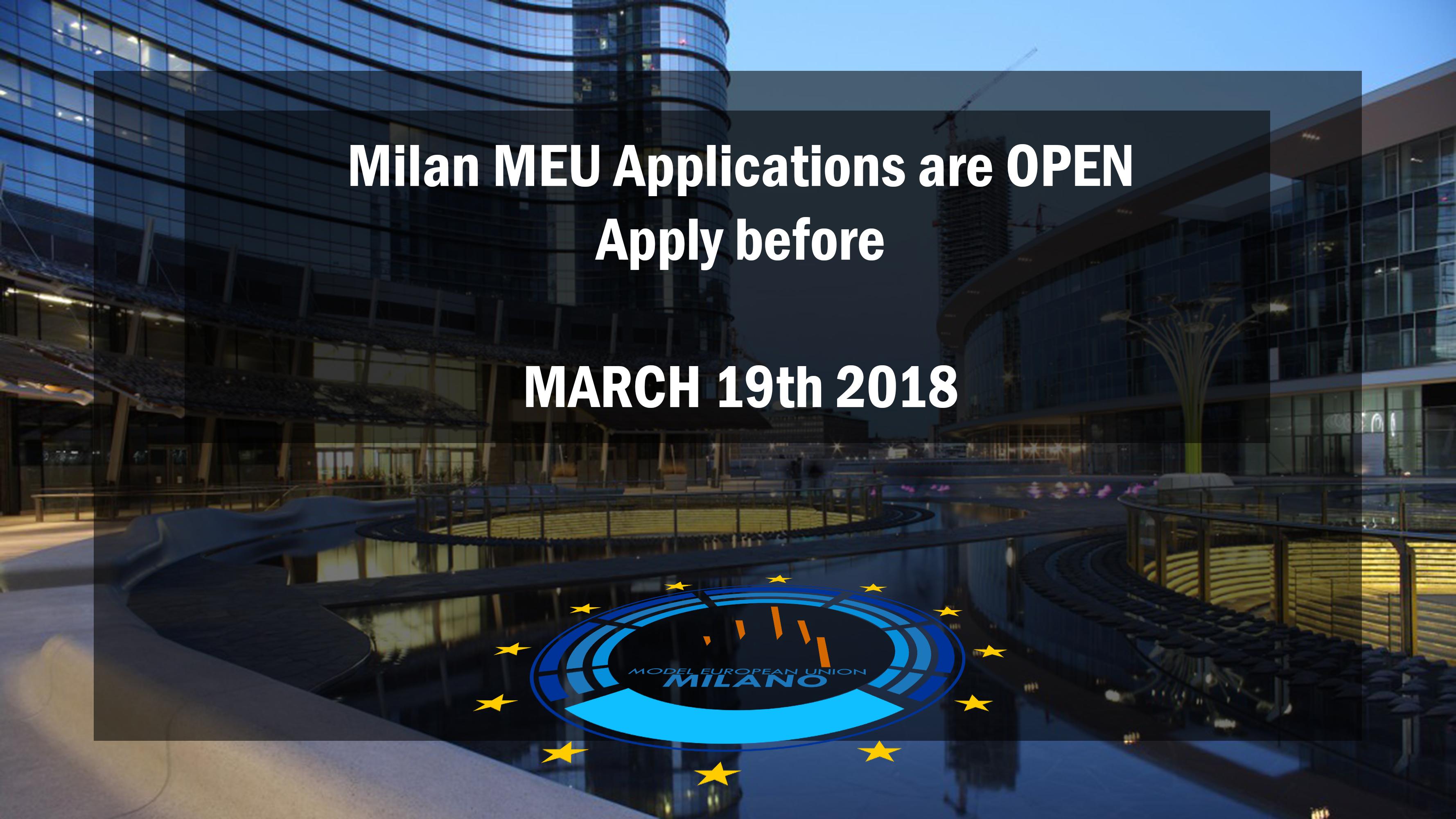 Milan MEU 2018 - Call for Participants
